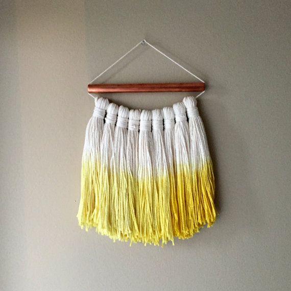 woven wall hanging tassels tassel garland fiber by PineapplePhi ...
