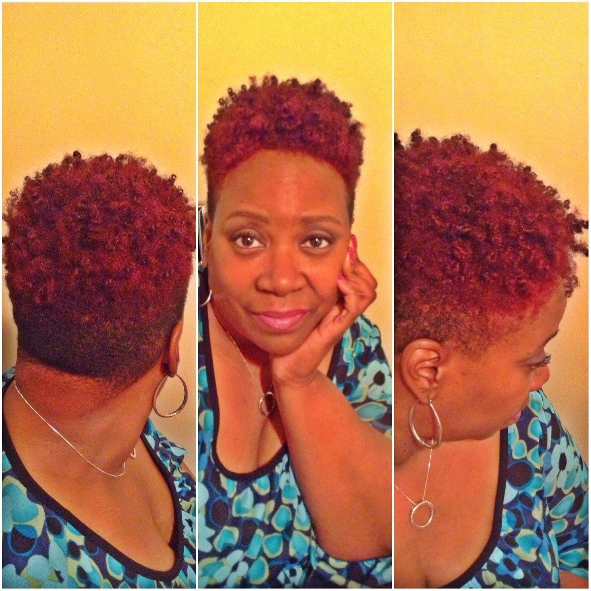 My New Hair Cut A Tapper Twa With Hair Color Bright Auburn By Shea