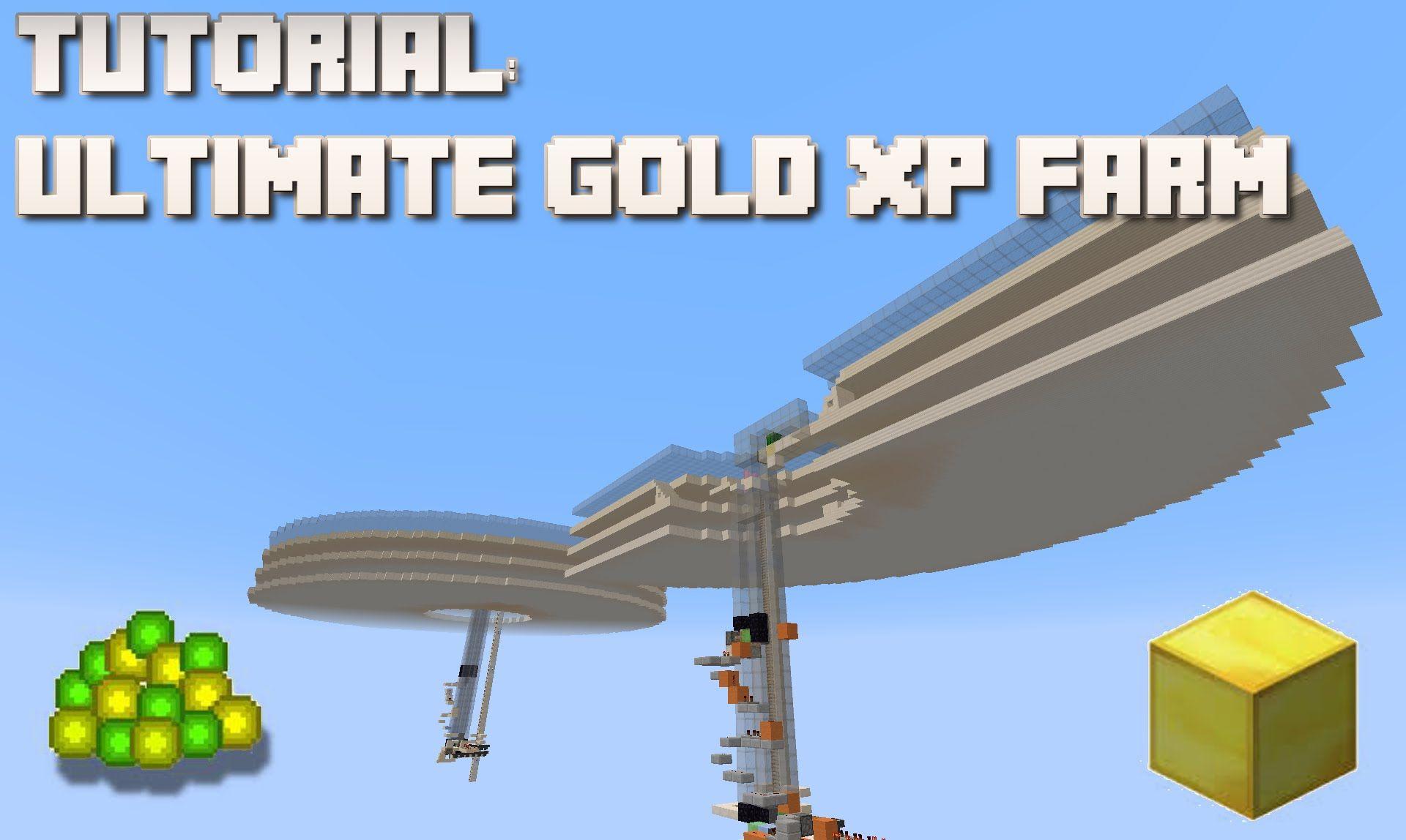 minecraft xp gold farm tutorial part 2 minecraft in 2018