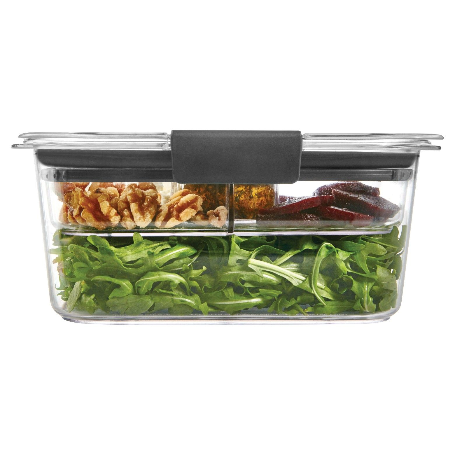 Rubbermaid 4 7 Cup Brilliance Food Storage Container With Images Salad Container Lunch Storage Containers Food Containers