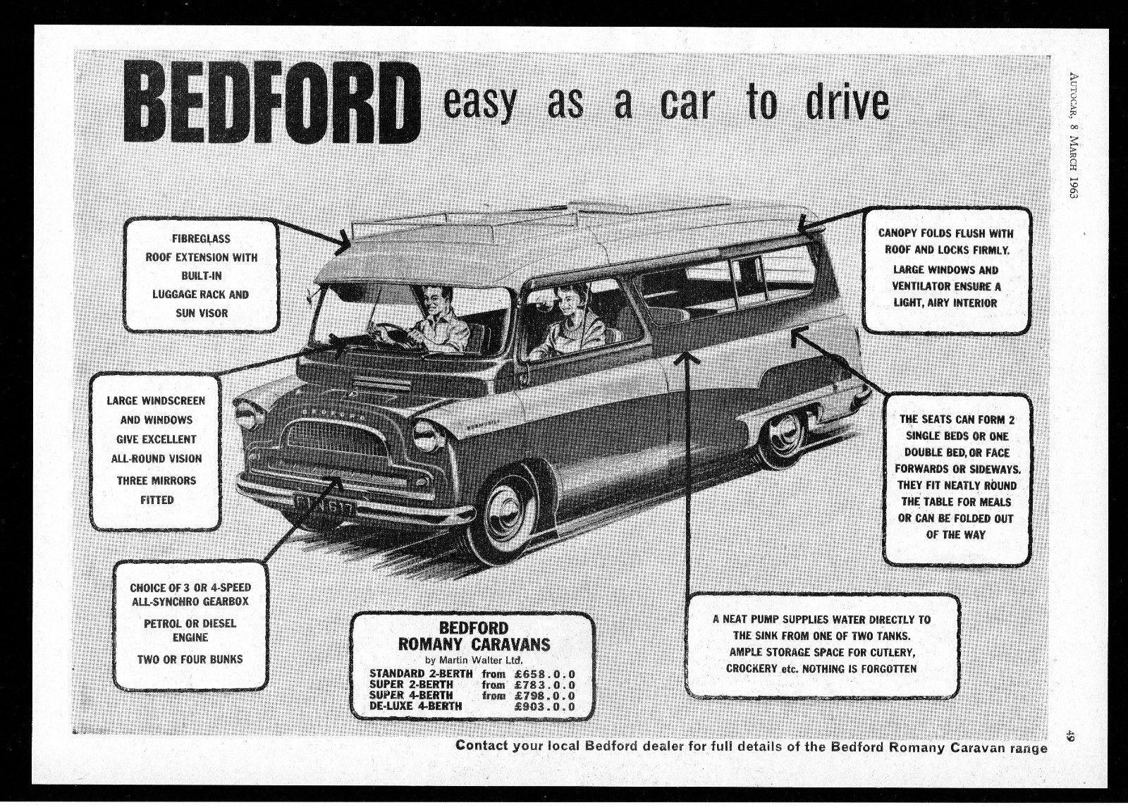 Walter Ltd 1963 bedford romany motor caravan motor home martin walter ltd