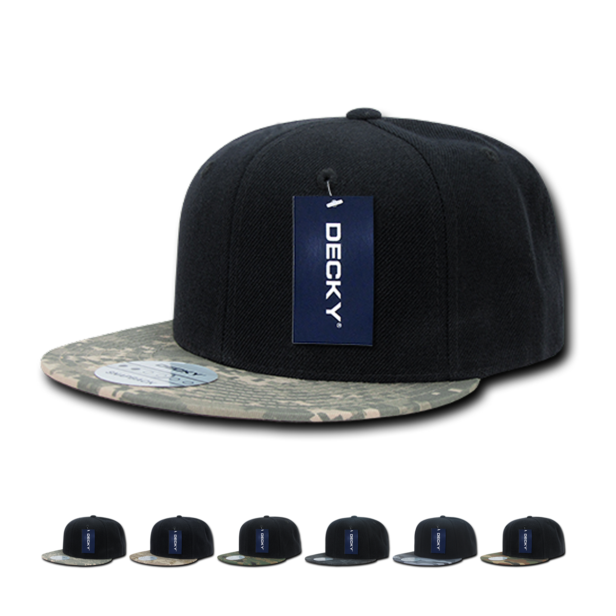 The Wholesale Camo Bill Snapback Flat Bill Hat Decky 356 Is A 6 Panel Constructed Cap Featuring Various Camouflage Designs On A With Images Flat Bill Hats Snapback Hats