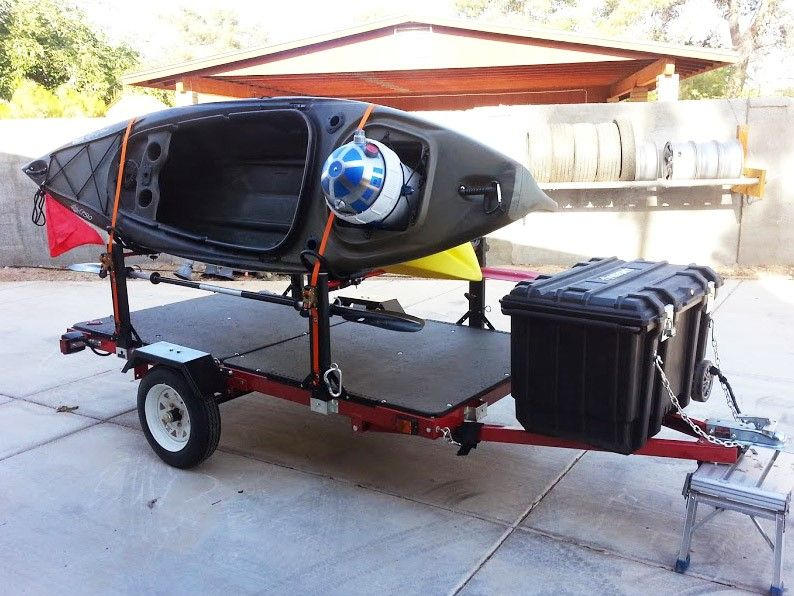 To Build Camping Pinterest Kayak Trailer Camp