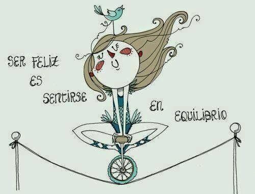 ser feliz es sentirse en equilibrio #frases #quotes #citas