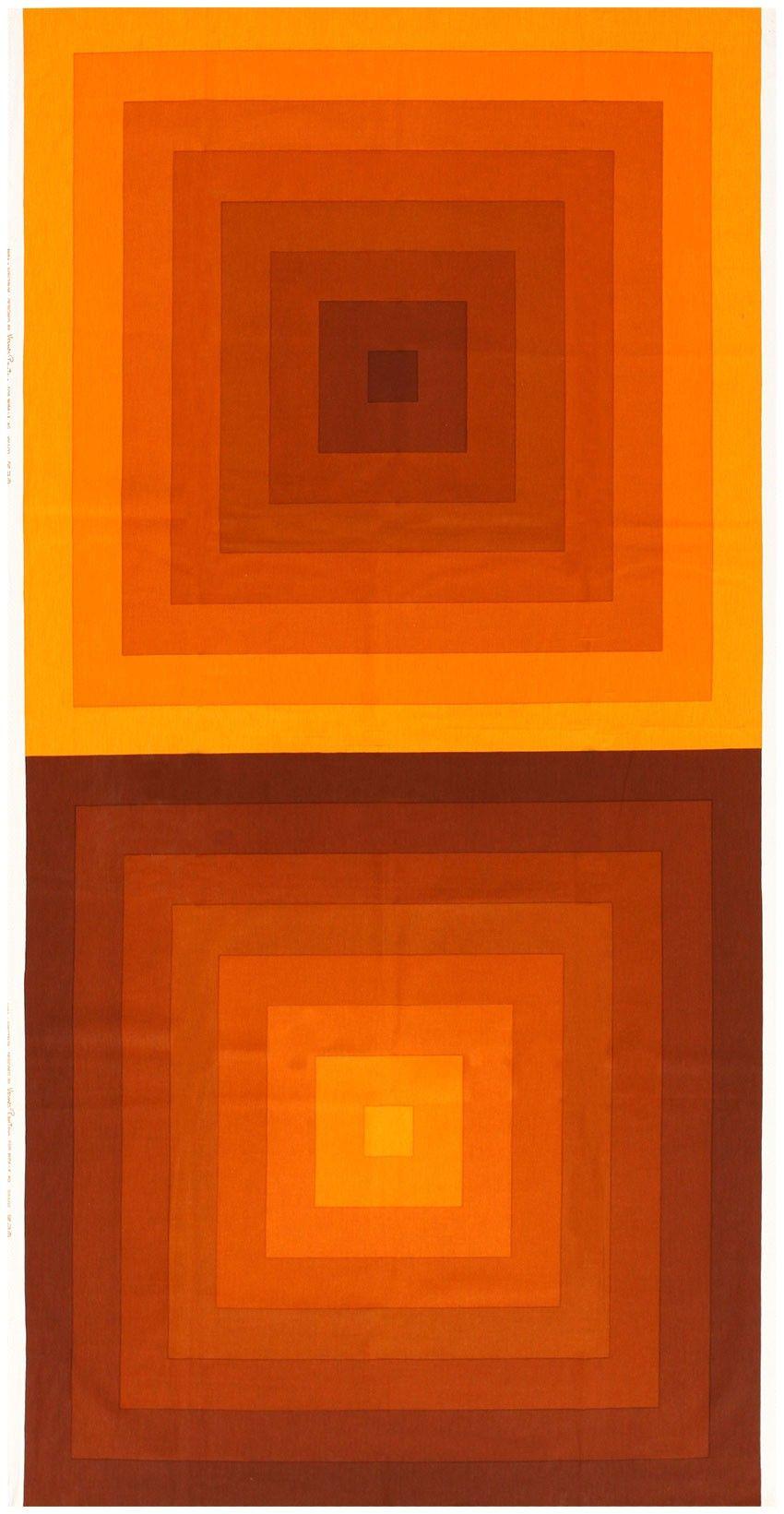Vintage Orange Quadrat Verner Panton Textile 47807 2019