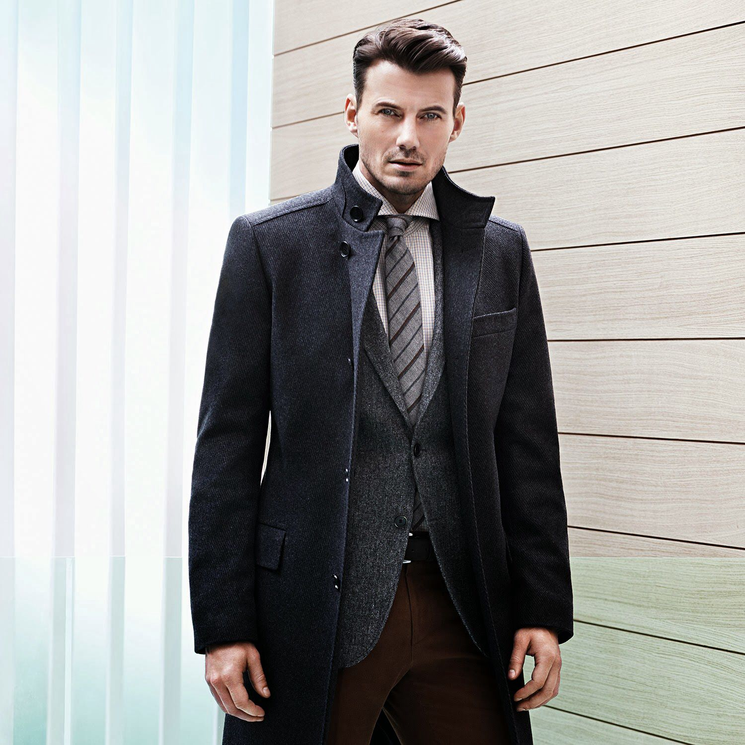 Alex Lundqvist, is the face of Hugo Boss' BOSS online campaign this winter…
