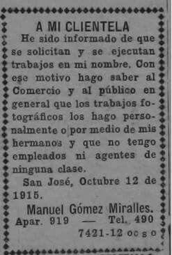 Periódico La Información 1915 (Sinabi)