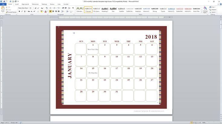Customize A Free Calendar Template  Free Calendar Template