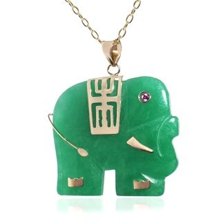 14k yellow gold jade elephant necklace jade jadeite pinterest 14k yellow gold jade elephant necklace aloadofball Gallery