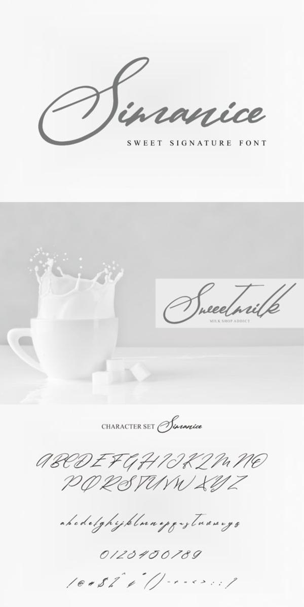 Simanice   Fonts   Signature fonts, Fonts, Premium fonts