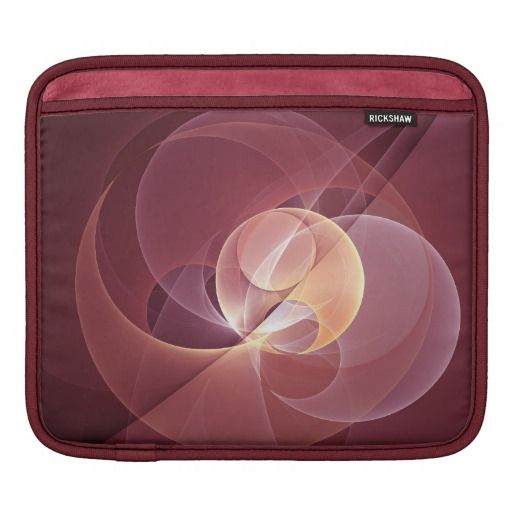 Movement Abstract and Modern Fractal Art iPad Sleeves