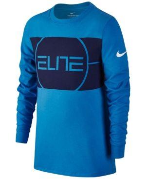 60a4cb37cc Nike Dri-fit Elite Basketball T-Shirt, Big Boys (8-20) - Blue XL ...