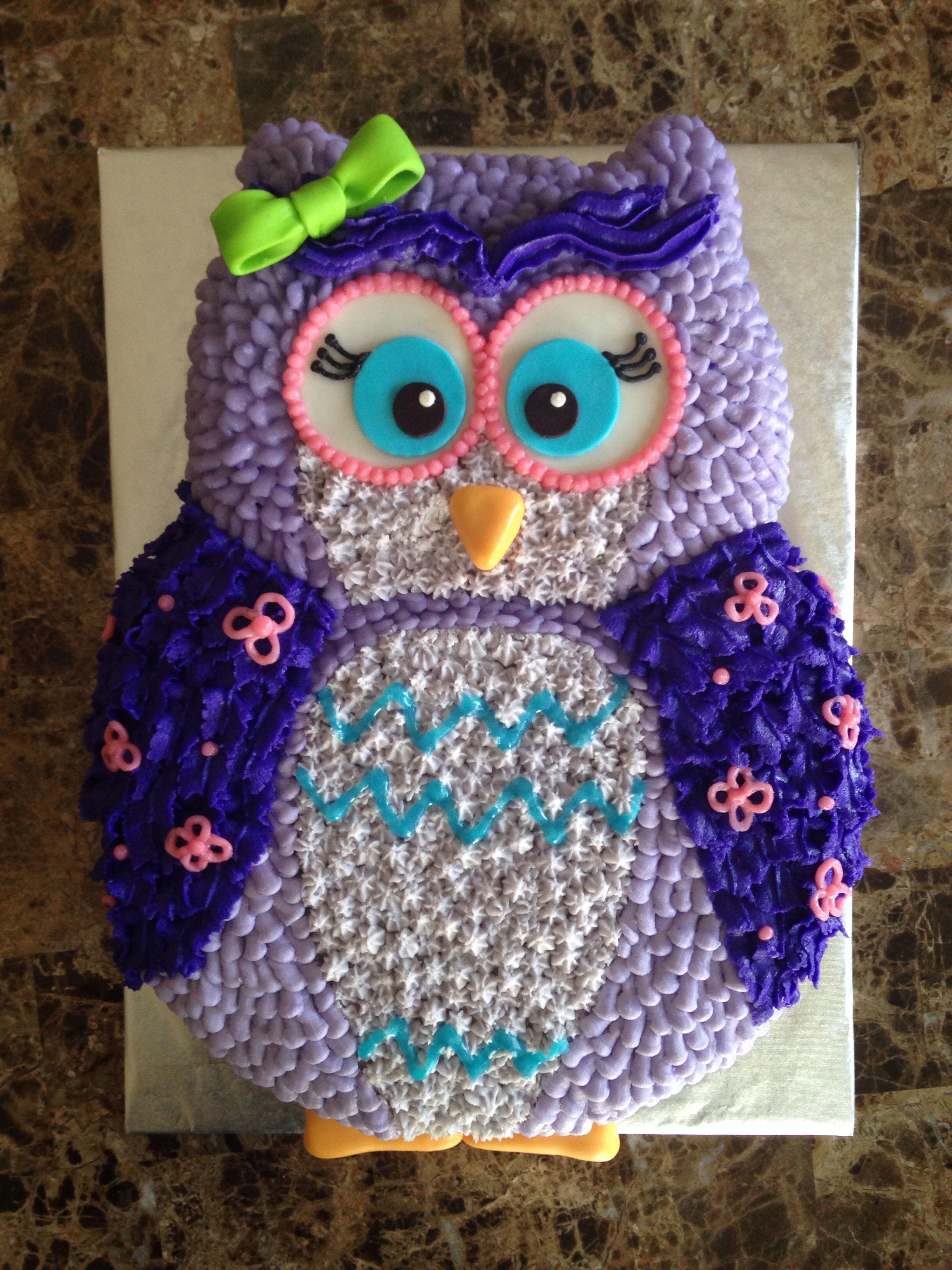 Buttercream Owl Cake Cakes Pinterest Owl Cakes Owl And Cake