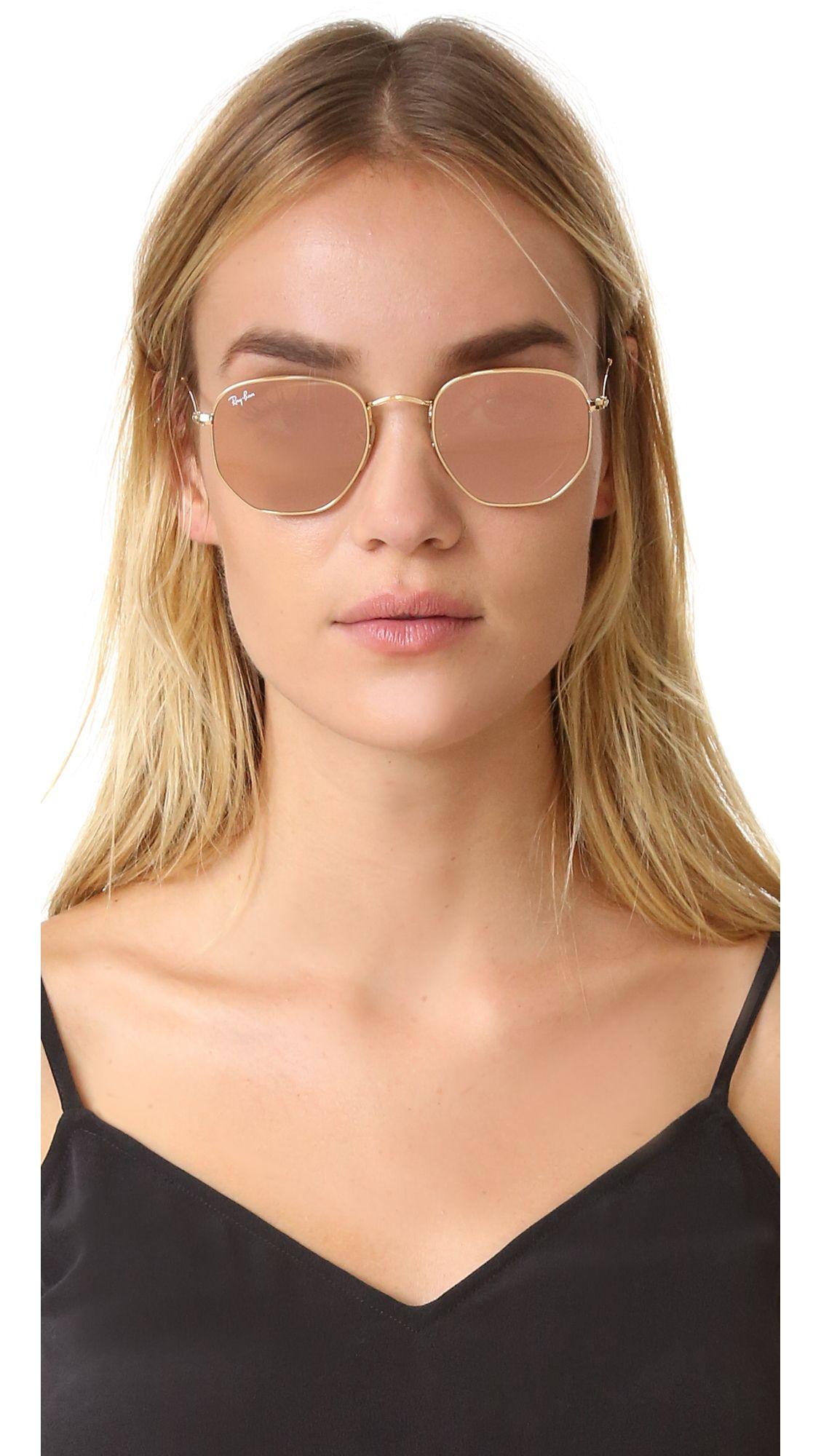 9d430f1646c67 RB3548N Hexagonal Mirrored Sunglasses