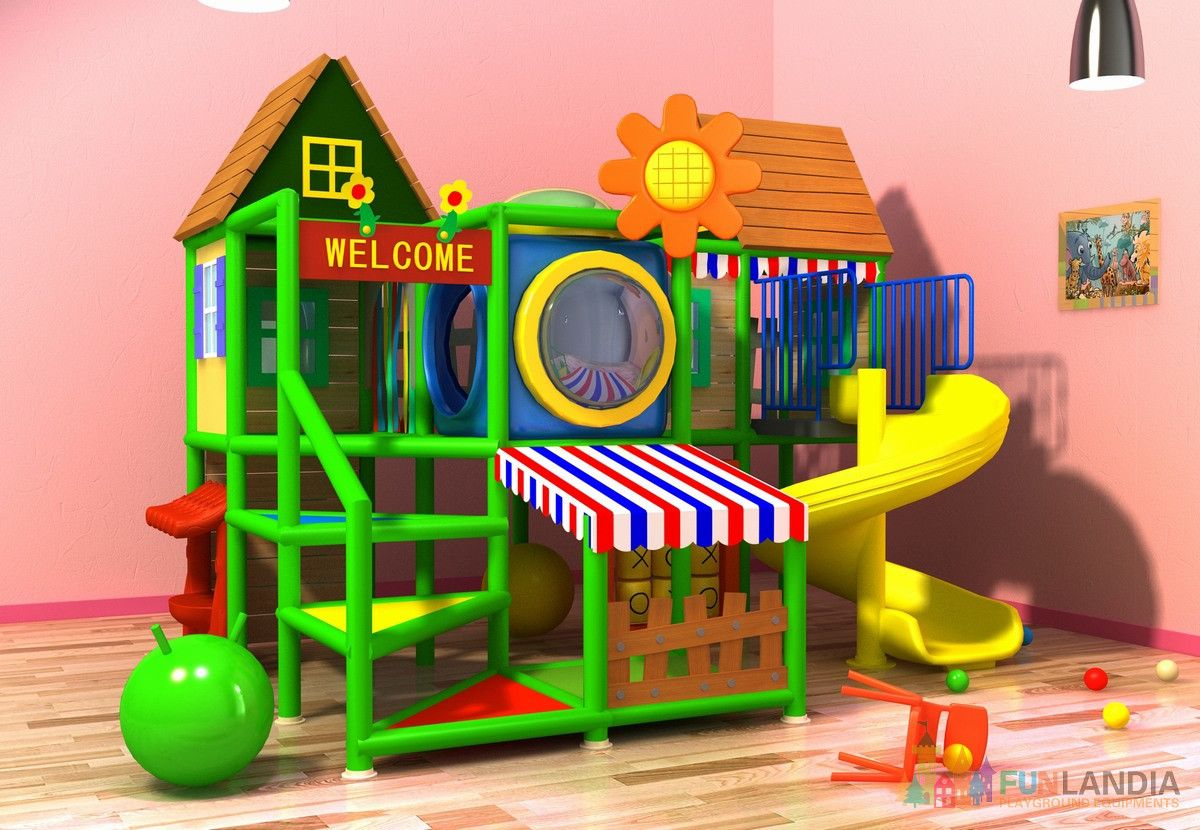 Indoor play structure sps jai 003 funlandia playground for Interior designs play