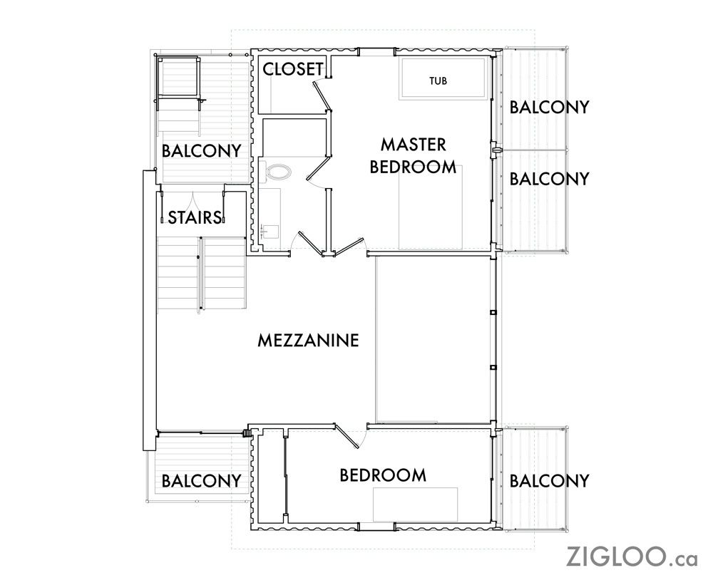 2×4 PLANS AVAILABLE | Zigloo Custom Container Home Design | Homes ...