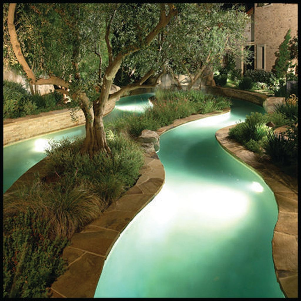 Insanely Cool Lazy River Pool Ideas In Home Backyard(39 ...