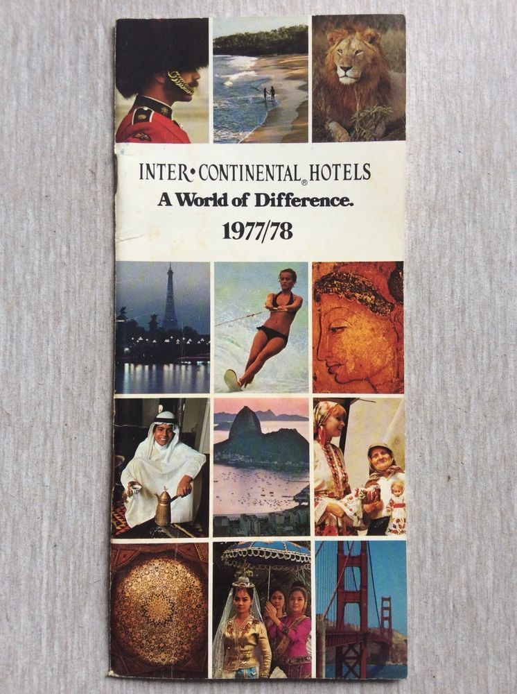 INTER CONTINENTAL HOTELS Directory Book 1977/1978 Vintage
