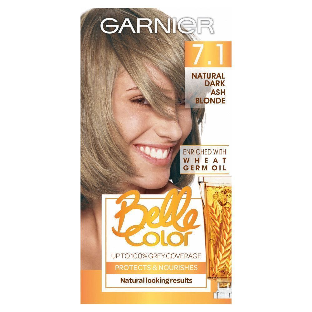 Garnier Belle Colour 7 1 Natural Dark Ash Blonde Hair Dye