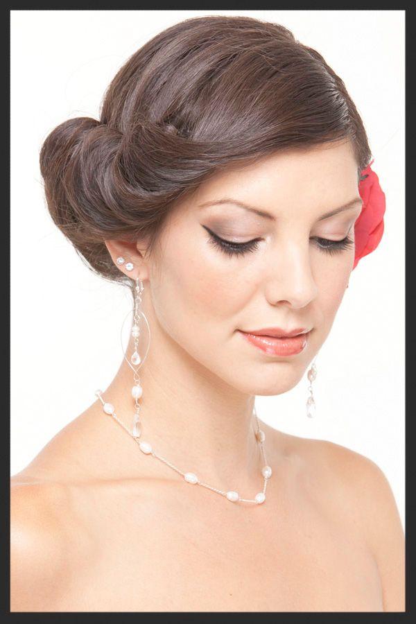 spanish glam hair & make wedding