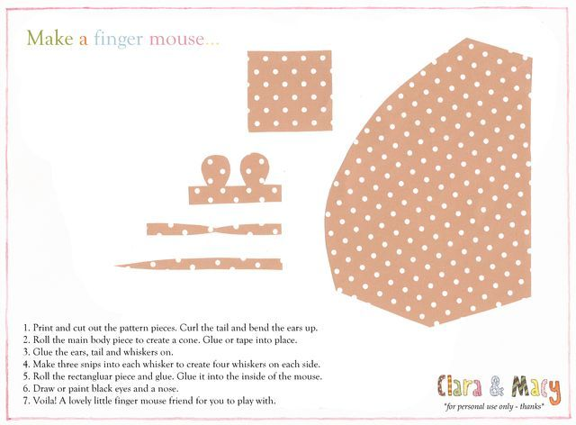 Finger mouse template kids crafts crafts for kids etc pinterest finger mouse template maxwellsz