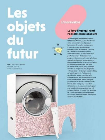 The Flat Pack Washing Machine The French Designer Claims Will Last A Lifetime Washing Machine Machine French Design