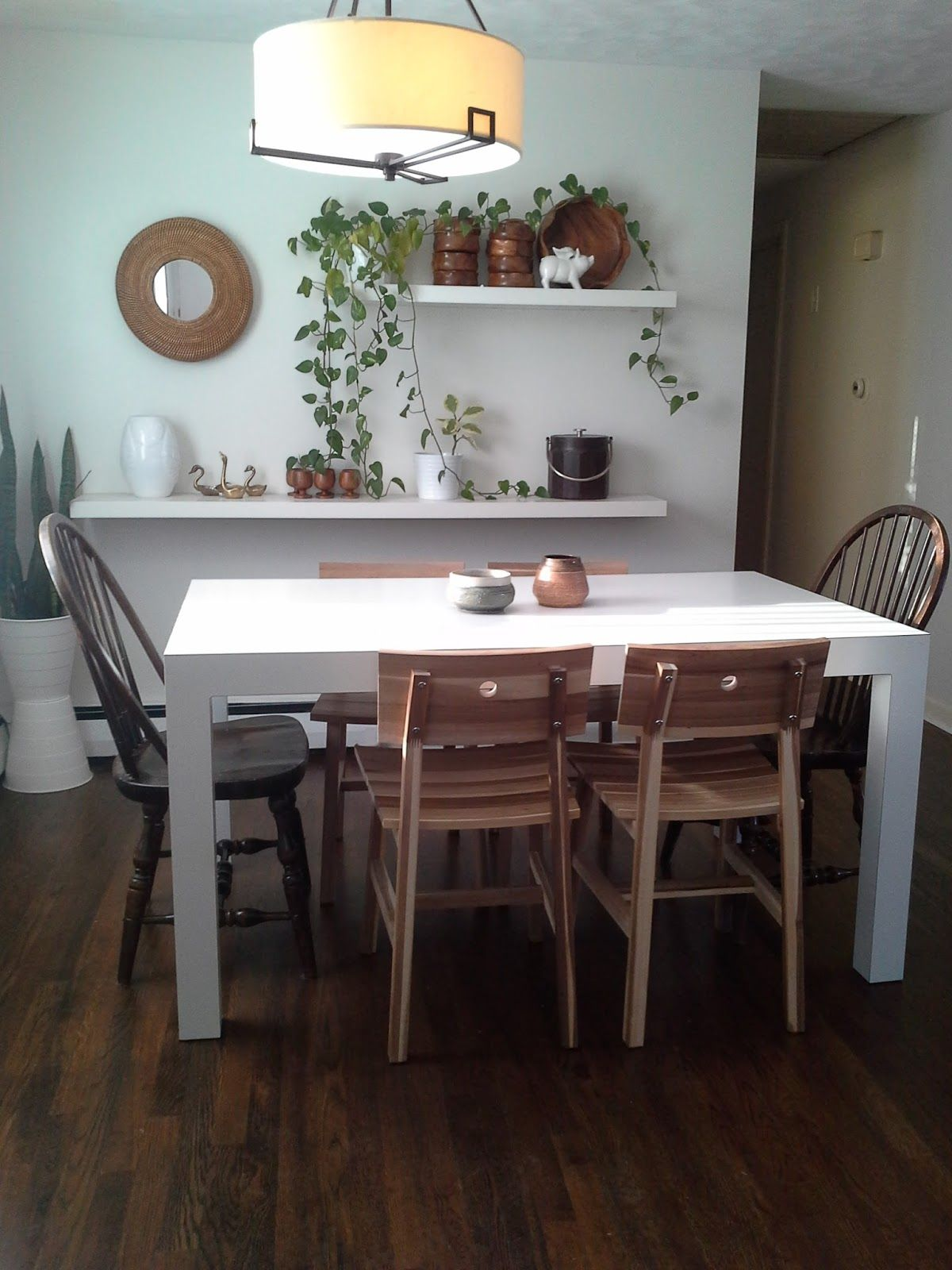 Ikea Skogsta Chair Parsons Dining Table | furnishings | Pinterest ...