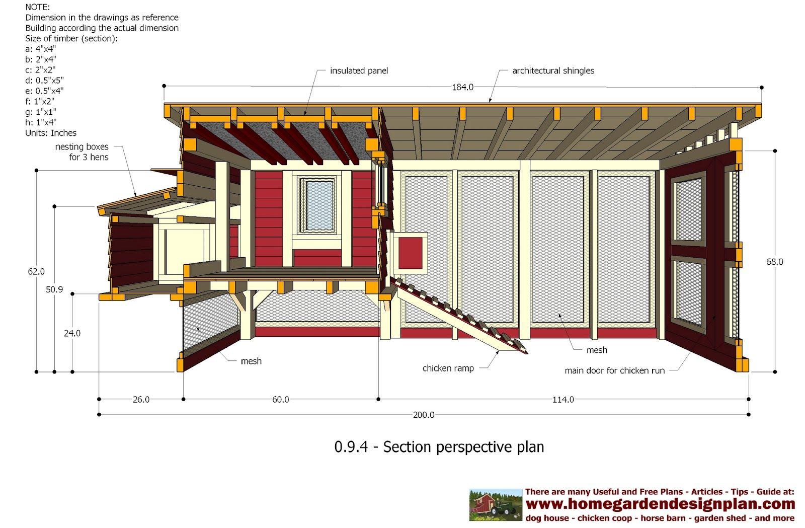 home garden plans: M101 - Chicken Coop Plans Construction - Chicken ...