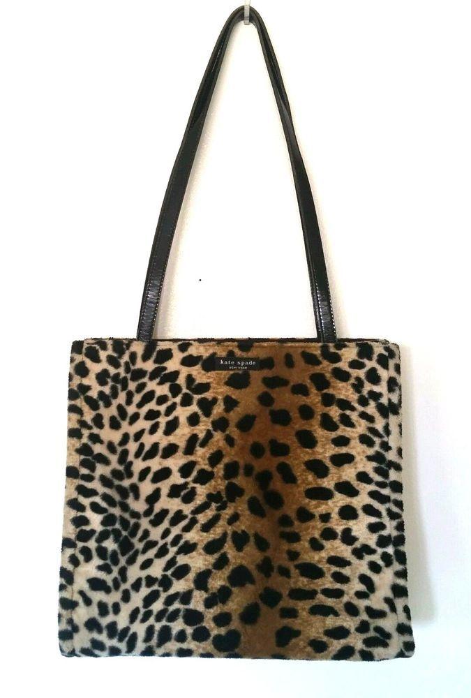 Kate Spade Faux Fur Animal Cheetah Leopard Print Tote Bag ...