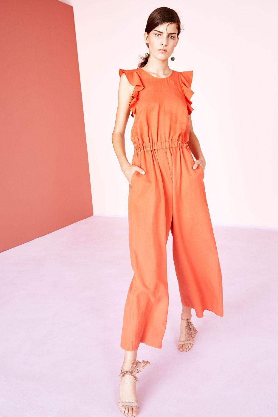 0f5fbd937b5b Viola Jumpsuit in Chili by Ulla Johnson