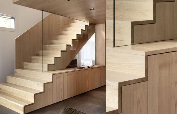 Kast In Trap : Schoenen in de kast en de trap op kast en trap geïntegreerd met