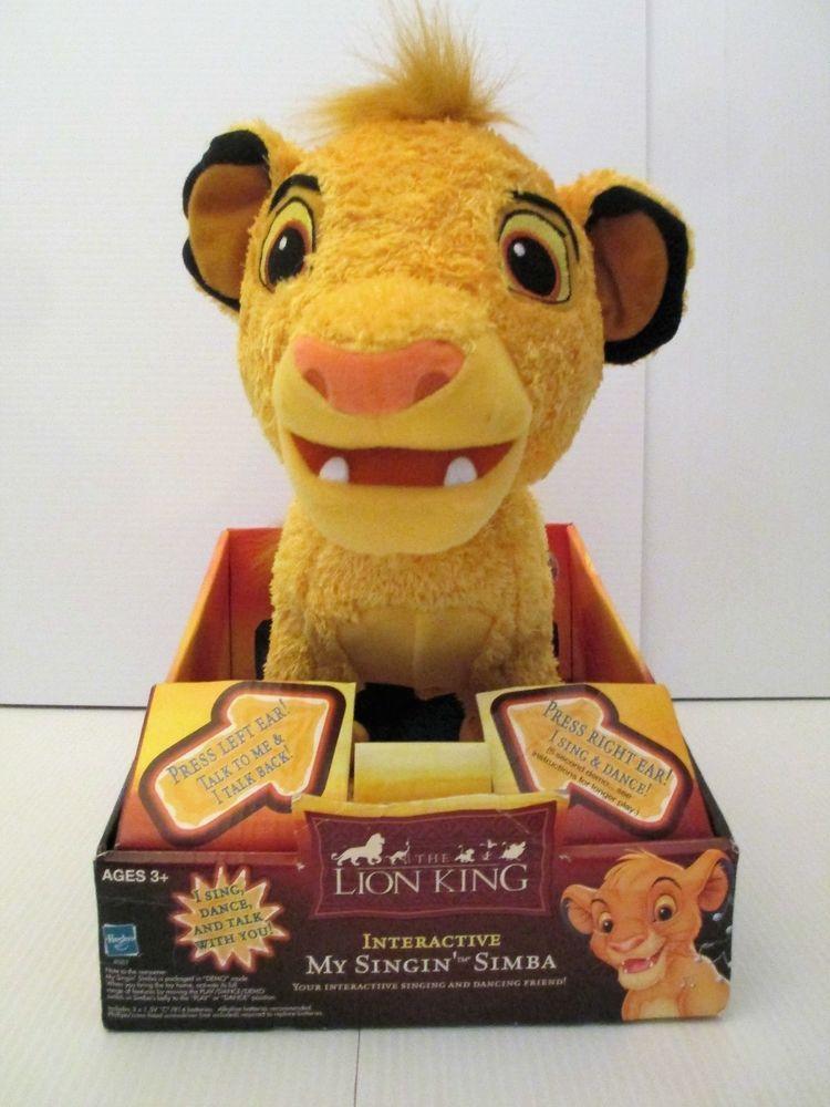 3b924e557e21fe My Singin  Simba The Lion King Disney 2002 Hasbro Active Plush  Hasbro