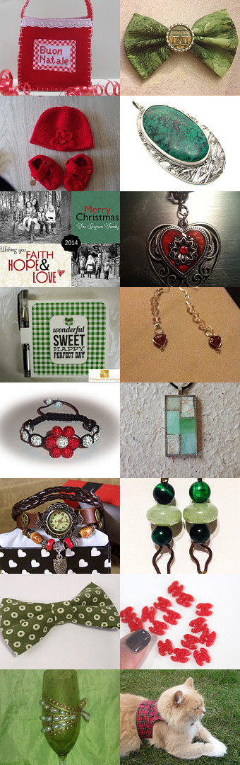 We Need a Little Christmas Now by Christine Delea on Etsy--Pinned with TreasuryPin.com #jewelry #booties #earrings #necklace #bracelet #photo #bow