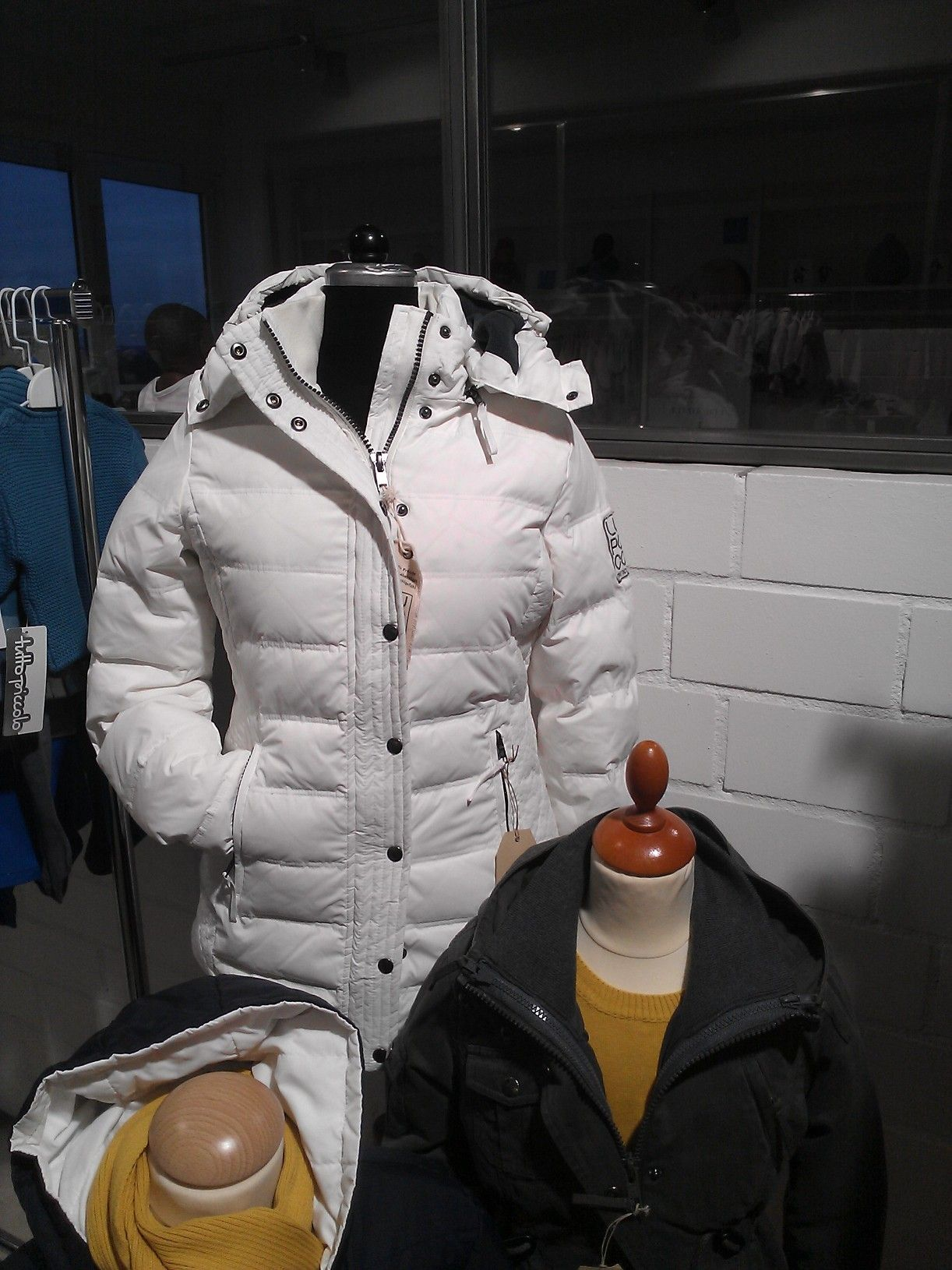 Weiß Damen Winter Daunenjacke 2014Jacken Lupaco N8wvnOm0