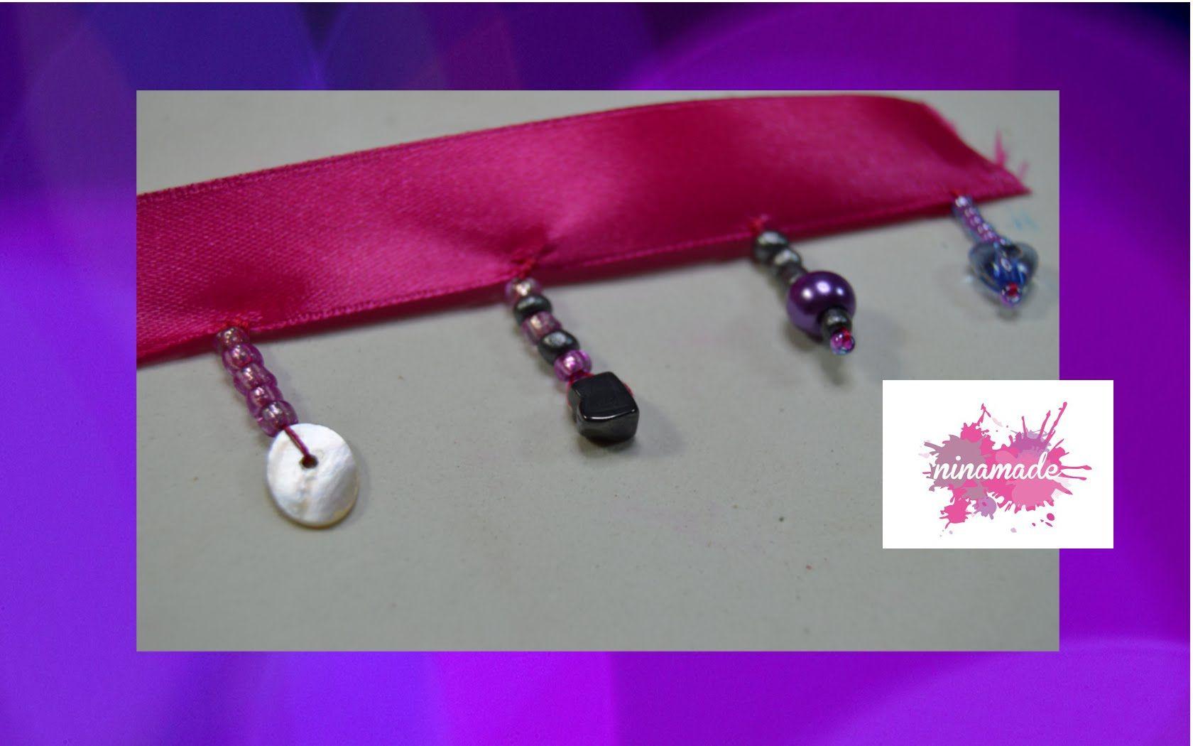 DIY.Comment faire des franges avec des  perles//How to make fringes with...