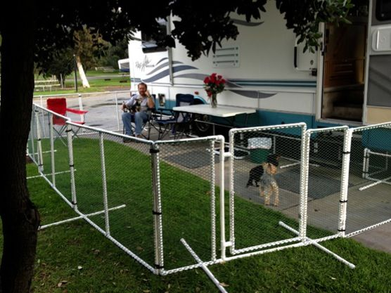 Portable Awning On Fence : Rv dog fence google search fencing pinterest