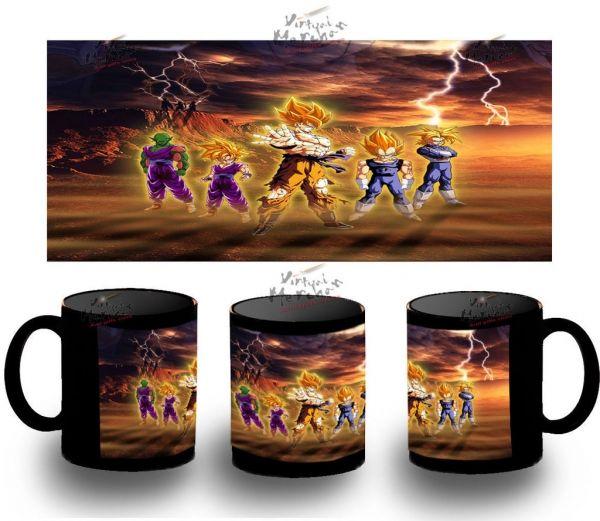 Taza Negra Dragon Ball Fondo Frieza Bola De Black Mug Tazza Tasse Coupe Mug Goku - Bekiro