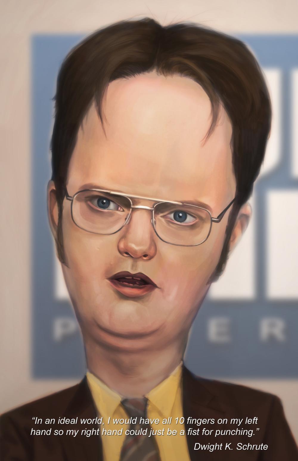 Artstation Dwight Schrute Dwayne Bruce Dwight Dwight Schrute Caricature