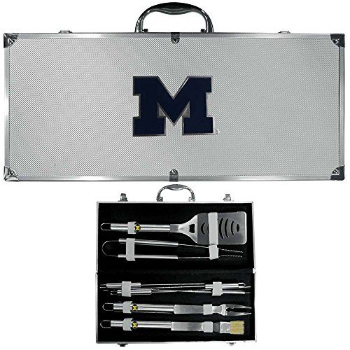NCAA Michigan Wolverines 8 Piece BBQ Set WCase *** More