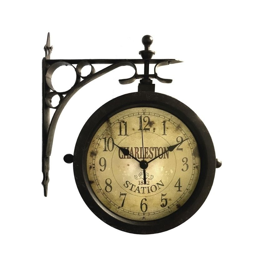 Overstock Com Online Shopping Bedding Furniture Electronics Jewelry Clothing More In 2020 Outdoor Clock Outdoor Wall Clocks Wall Clock With Thermometer