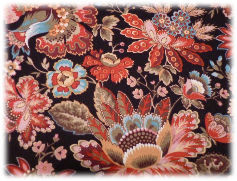 Stoff Blumen - Markus US Stoff schwarz Blumen M for Mystery - ein Designerstück von Bibo-Laedchen bei DaWanda