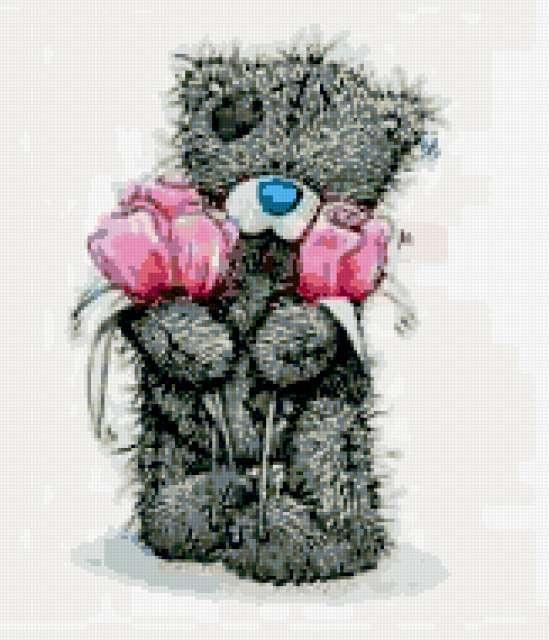 мишка Тедди, картинка, мишка с цветами | Картинки ...