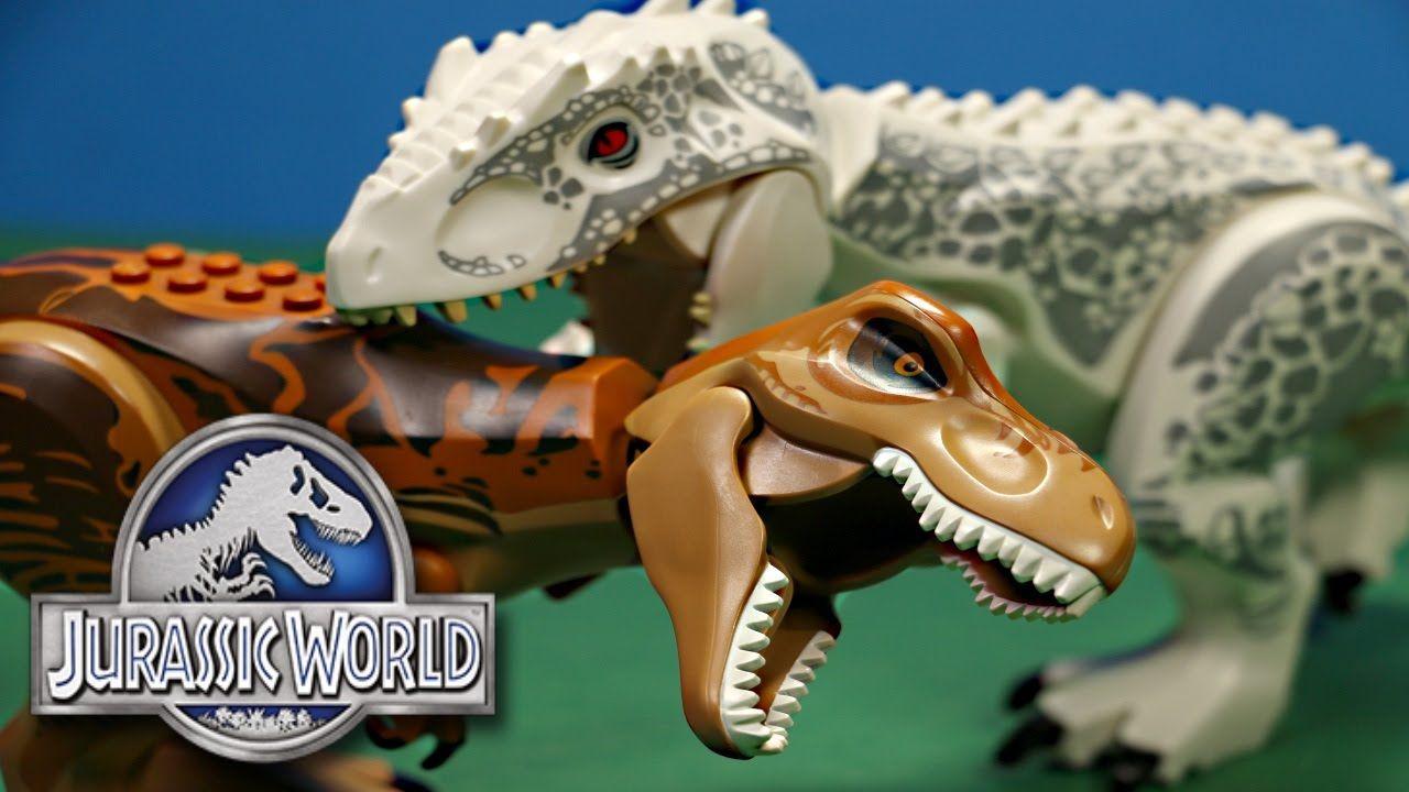 Jurassic World Lego T Rex Vs Lego Indominus Rex Dino Battles Dinosaurs Indominus Rex Jurassic World Rex