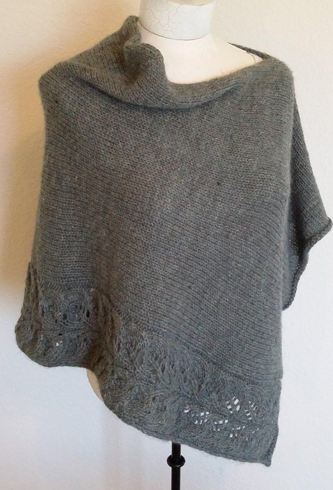 Rosalie Poncho Knitting Pattern By Martha Wissing Simple Poncho