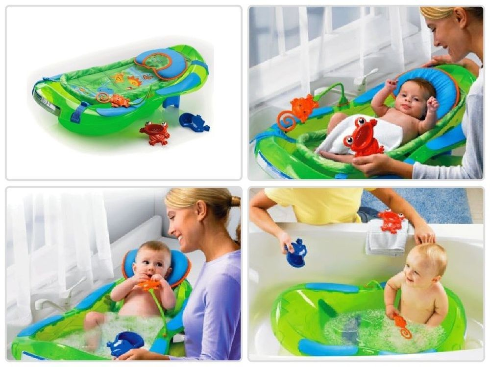 Fisher-Price Baby Bath Chair for Tub Seat with Head Support Toys ...