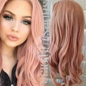 Rosie Rose Gold Lace Front Synthetic Wig Gold Hair Dye Beauty Hair Color Hair Fragrance