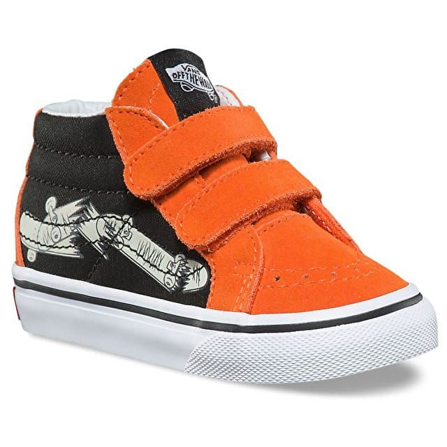 995214b211c Vans Sk8-Mid Reissue V Toddler Skate Shoes - Flame Black