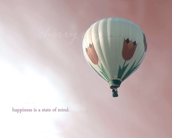 Tulip Balloon Hot Air Balloon Pink Sky Inspirational Quote Girls