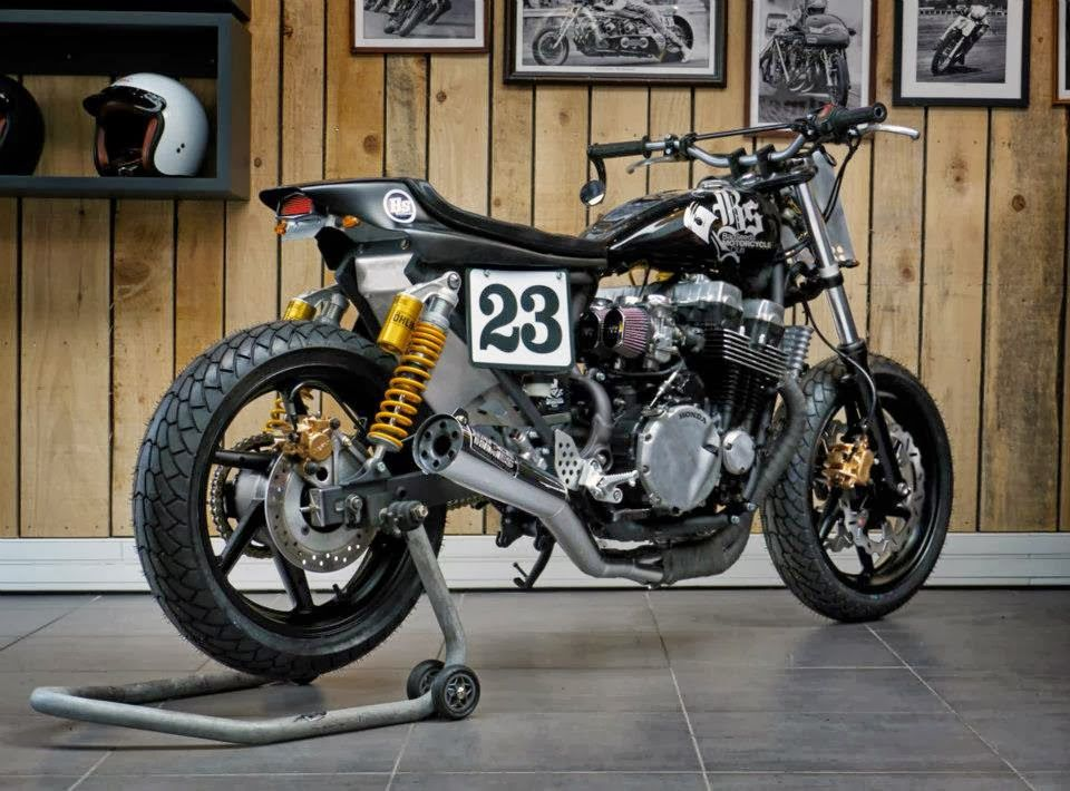 Racing Cafè: Honda CB Seven Fifty BS3 Dirt Track by Bad Seeds Motorcycle Club