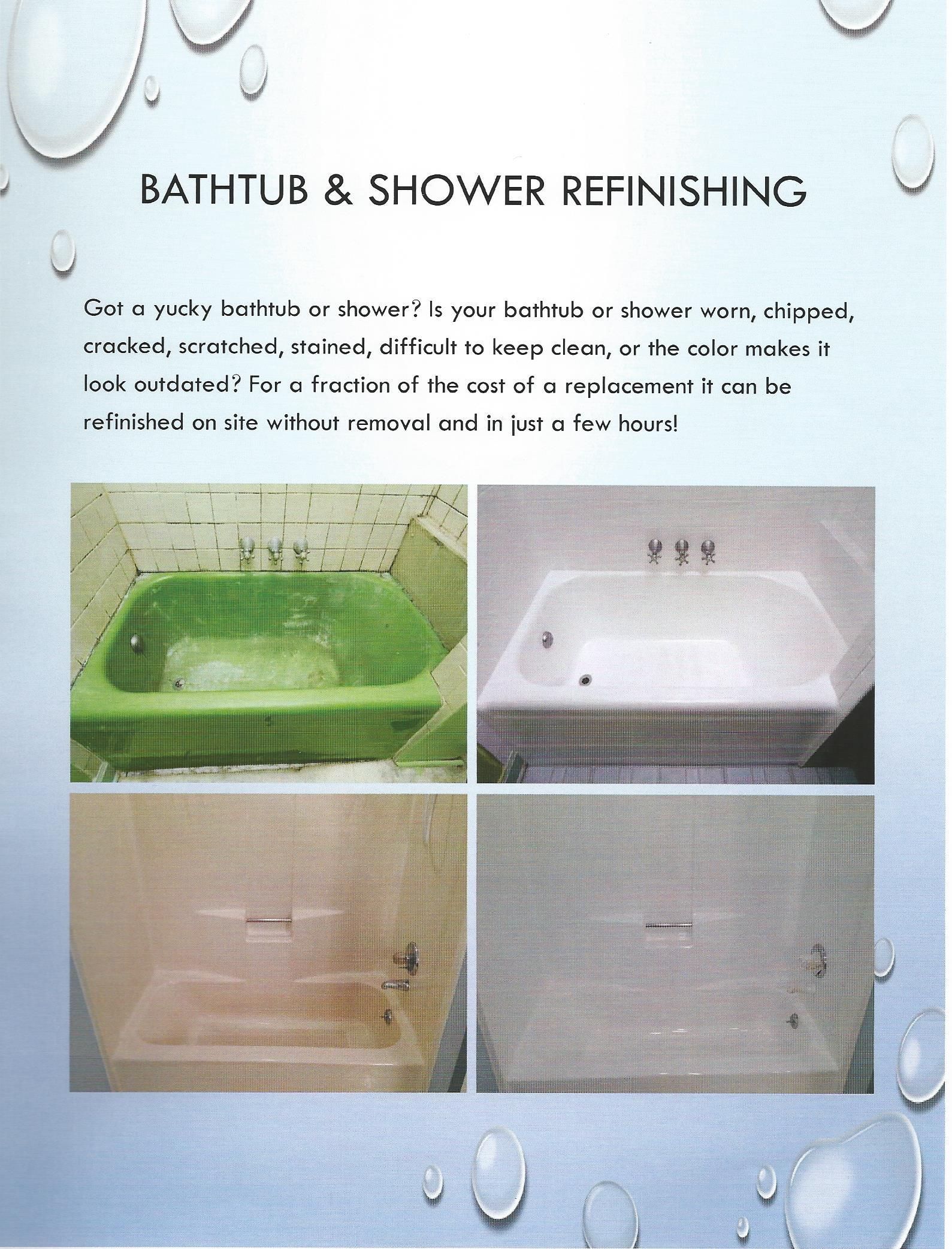 Make Your Old Tub Look Like New With Our Refinishing Process Triangle Nc Keep It Cleaner Bathtub Shower Bathtub